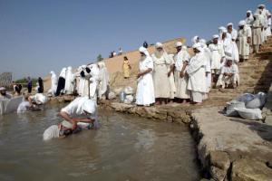 Mandaean Sabians Conduct Golden Baptism Ritual