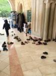 The shoes outside Nebi Shu'eib